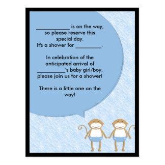 Twins Baby Shower Invite.... Speech Bubble Postcards