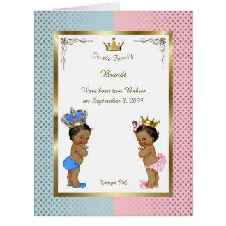Twins birth announcement card, photo, souvenir