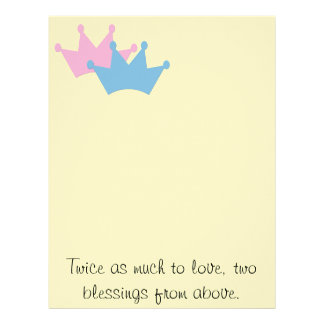 Twins Boy and Girl! Letterhead