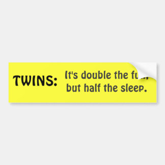 TWINS bumpersticker Bumper Sticker