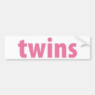 TWINS COLLECTION - girls {pink} Bumper Sticker