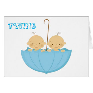 TWINS DOUBLE THE LOVE AND DOUBLE THE FUN CARD
