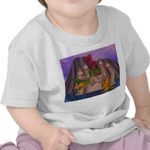 Twins first birthday two cute patchwork DragoN T Shirt