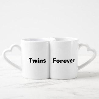 """Twins Forever"" Nesting Mug Set Lovers Mug Set"