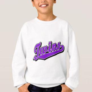 Twins in Purple Sweatshirt