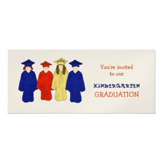Twins Kindergarten Grad Party Invitation