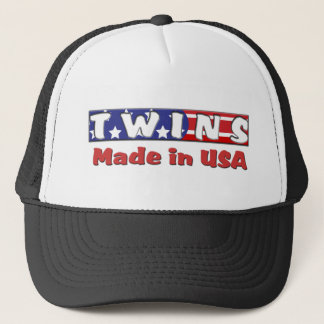 Twins Made In USA Red Trucker Hat