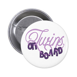Twins On Board 2 Inch Round Button