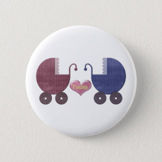 Twins Prams Art 2 Inch Round Button