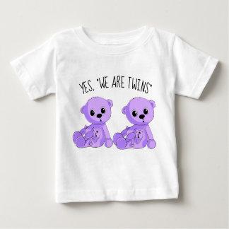 Twins Purple Teddy Bears Shirt