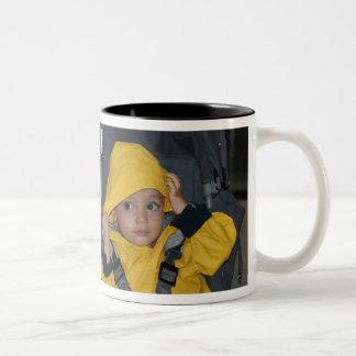 Twins Rainy Day Two-Tone Coffee Mug