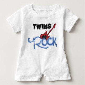 Twins Rock Baby Romper