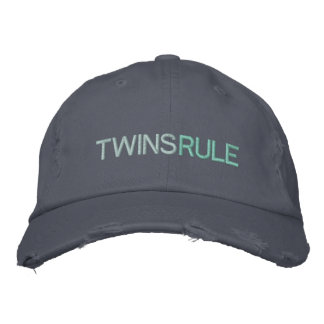 TWINS RULE EMBROIDERED HATS