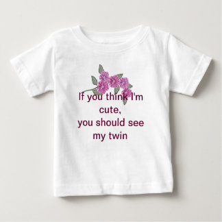 Twins t-shirt with Purple Flower