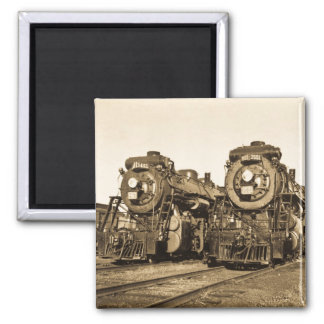 Twins Vintage Locomotive Train Engines Magnet