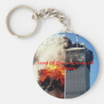 twintower, Land Of The Free Home Of The Brave Key Chains