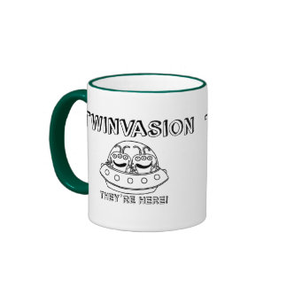 """TWINVASION """"They're Here!"""" Ringer Coffee Mug"""