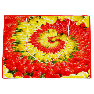 Twirl of tulips large gift bag