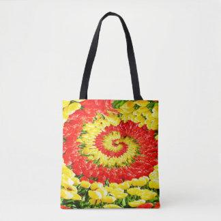 Twirl of tulips tote bag