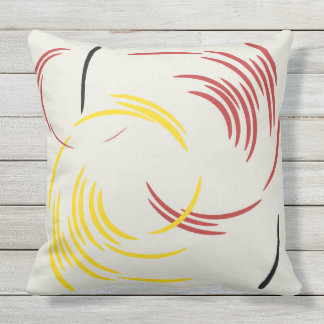 TWIRL THE DOTS THROW PILLOW