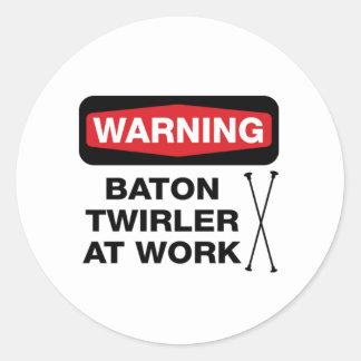 Twirler at Work Sticker