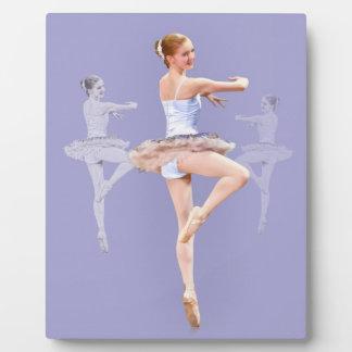Twirling Ballerina in Triplicate Plaque