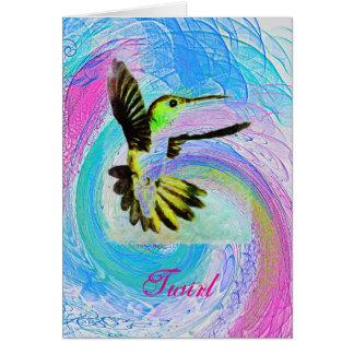 Twirling Hummingbird Note Card