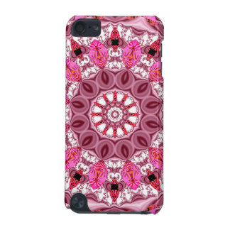 Twirling Pink, Abstract Candy Lace Jewels Mandala iPod Touch (5th Generation) Cases