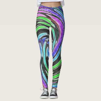 Twirls in Color Leggings