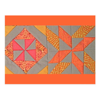 Twirly Orange Pinwheels Postcard