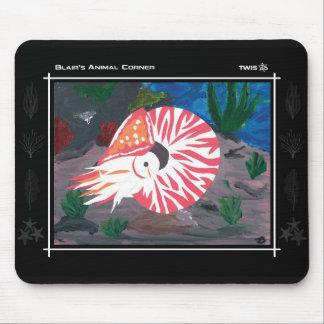 TWIS Mousepad: Blair's Animal Corner Nautilus Mouse Pad