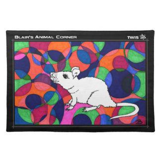 TWIS Placemat (cloth): Blair's Animal Corner Rat