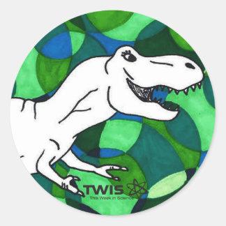 TWIS Sticker: Blair's Animal Corner T Rex Round Sticker