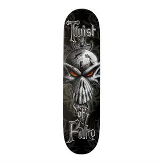 Twist of Fate Skull Skateboard