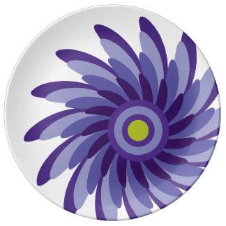 Twist of Peri Porcelain Plates