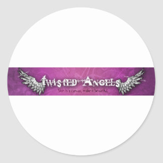 Twisted Angels logo stickers