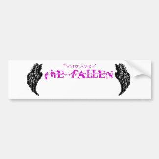 Twisted Angels - The Fallen purple logo bumper sti Bumper Sticker