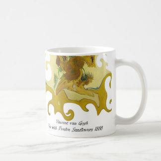Twisted Art Van Gogh  vase with twelve sunflowers Classic White Coffee Mug