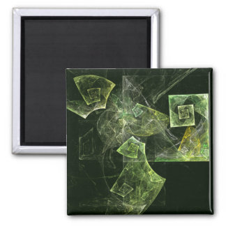 Twisted Balance Abstract Art Square Magnet