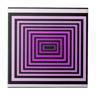 Twisted Brain Game Optical Illusion Purple Black Tile