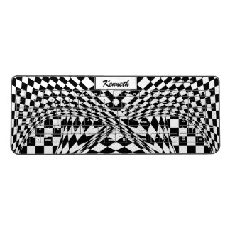 Twisted Checkers by Kenneth Yoncich Wireless Keyboard