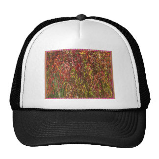Twisted Colorful Nature Print Goodluck warm fall Mesh Hats