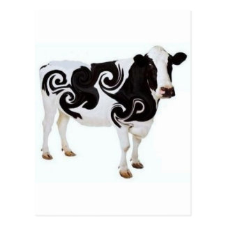 Twisted Cow Design Postcard