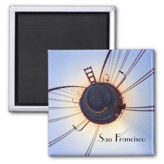 Twisted Golden Gate Bridge magnet