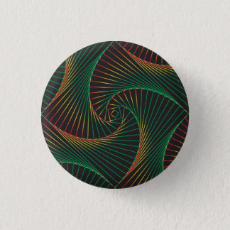 Twisted - Green and Red 1 Inch Round Button