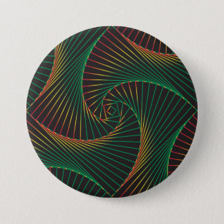 Twisted - Green and Red 3 Inch Round Button