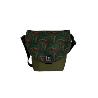 Twisted - Green and Red Courier Bags