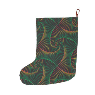 Twisted - Green and Red Large Christmas Stocking
