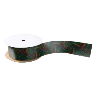 Twisted - Green and Red Satin Ribbon