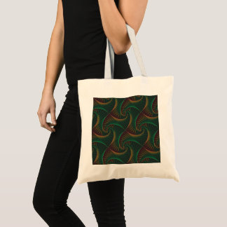 Twisted - Green and Red Tote Bag